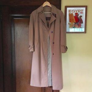 Vintage Etienne Aigner Trench Coat Tan Long Khaki